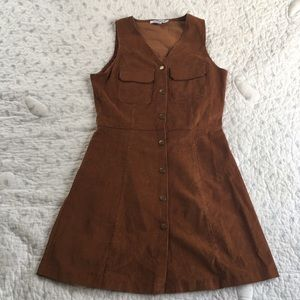 Glamorous button down corduroy mini dress